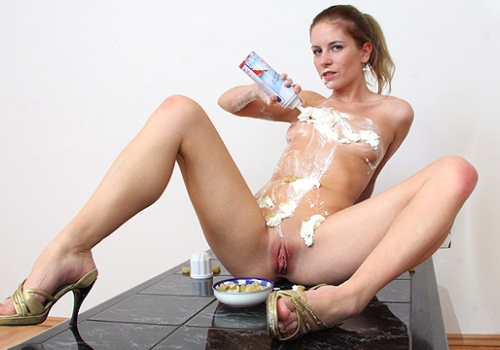 from Brentley nude girl with whipped cream on body